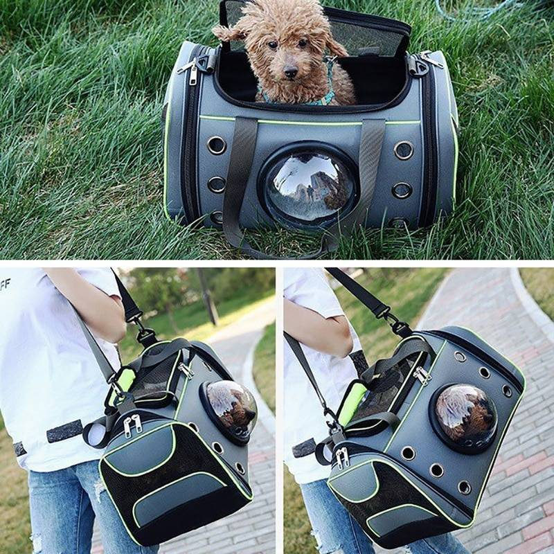 Comfortable Outdoor Pet Dog Carrier Bag Pet Dog Front Bag New Out Double Shoulder Portable Travel Backpack Mesh Backpack Head Bags & Carriers